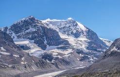 jasper för icefield för alberta athabascaKanada kanadensisk columbia berömd glaciär mest nationalpark tagna rockies Arkivbilder