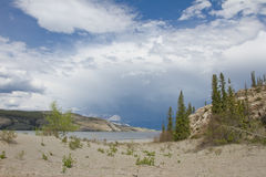 Jasper Lake, Canada Royalty Free Stock Photo
