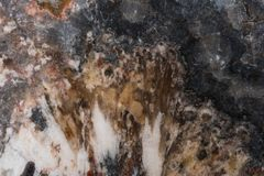 Jasper of many shades macro photo. Agates and Jaspers of all shapes, sizes and colors can be found in the desert southwest usa abstract background black close-up stock photography
