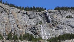 Waterfalls of weeping wall. Jasper National Park, Alberta , Canada stock footage