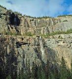 Jasper National Park, Alberta, Canada. The Weeping Wall beside the Icefields Parkway, Jasper National Park, Alberta, Canada Stock Photography