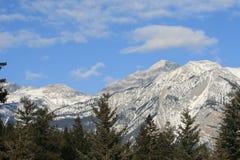 Jasper national park, canada. Jasper national park, alberta, canada, mountain range in snow, view from mountains Stock Photo