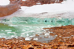 Jasper National Park Glacial Lake Royalty Free Stock Image