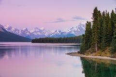 Jasper National Park. Scenic Malign Lake Jasper National Park Alberta Canada Royalty Free Stock Photo