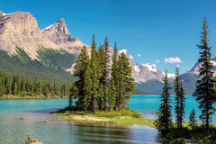 Jasper National Park. Spirit Island in Maligne Lake, Jasper National Park, Alberta, Canada Royalty Free Stock Photos