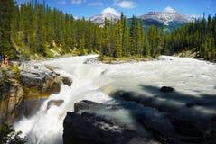 Jasper National Park Sunwapta Falls stock photo