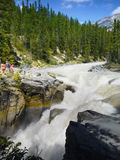 Jasper National Park, Sunwapta Falls Royalty Free Stock Image