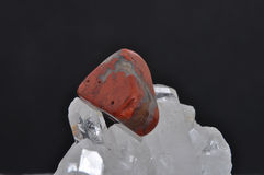 Jasper on rock crystal Royalty Free Stock Photography
