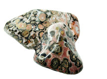 Jasper semiprecious mineral geological crystal Royalty Free Stock Photos