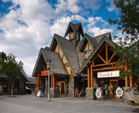 Jasper Street Adventure Centre Alberta Canada Royalty Free Stock Photos