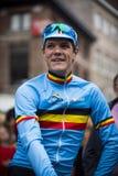Jasper Stuyven em GP Jef Scherens (Lovaina) imagens de stock