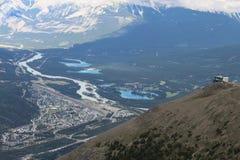Jasper summit and tramway Stock Photo