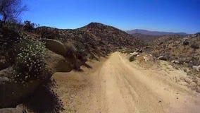 Jasper Trail Borrego Desert Ca POV 3 vídeos de arquivo