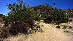 Jasper Trail Borrego Desert Ca POV 4 stock video