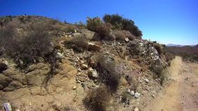 Jasper Trail Borrego Desert Ca POV 11 stock video