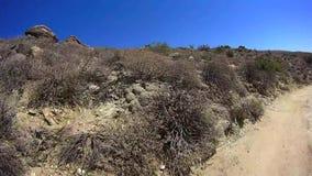 Jasper Trail Borrego Desert Ca POV 13 stock videobeelden