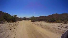 Jasper Trail Borrego Desert Ca POV 16 stock footage