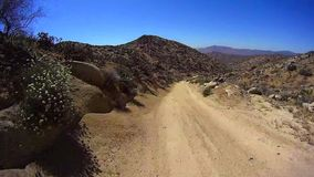 Jasper Trail Borrego Desert Ca POV 3 stock video footage