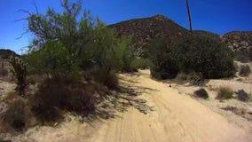 Jasper Trail Borrego Desert Ca POV 4 stock video