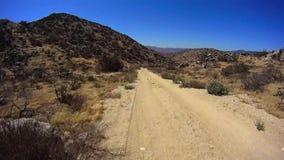 Jasper Trail Borrego Desert Ca POV 5 stock video footage