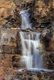 jasperen för alberta banff Kanada fallsicefields lokaliserade av gångallétangle Royaltyfri Fotografi
