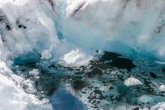 JASPIS, ALBERTA/CANADA - SIERPIEŃ 9: zanieczyszczenie przy Athabasca G Obrazy Stock