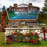 Jaspis, Wakacyjny kurort, Kanadyjskie Skaliste góry Obrazy Royalty Free