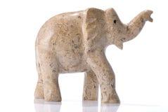Jaspiselefantstatuette Stockfotografie