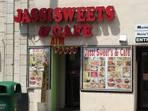 Jassi Sweets and cafe in Edison New Jersey. A Jassi Sweets and cafe on Oak Tree Road in Edison/Iselin, New Jersey Royalty Free Stock Images