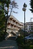 Jastarnia, Polonia, il 18 agosto 2013: Costruzione di appartamento moderna e di lusso Fotografia Stock