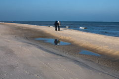Jastarnia-Strand im Winter Stockbilder