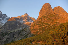 Jastrabia veza peak in High Tatra Mountains, Western Carpathians Stock Images