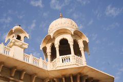 Jaswant Thada close up on towers and balustrade Stock Photography