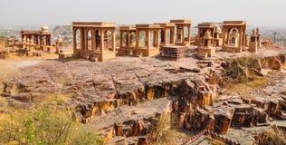 Jaswant Thada i Jodhpur Indien Arkivbilder