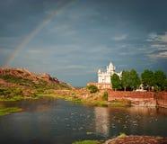 Jaswant Thada mausoleum i Jodhpur, Indien Royaltyfri Bild