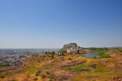 Jaswant Thada Mausoleum and Majestic Mehrangarh Fort located in Jodhpur, Rajasthan,India. Royalty Free Stock Photography