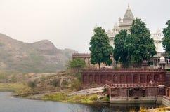 Jaswant Thada minnesmärke i Jodhpur Arkivfoto