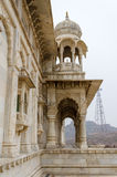Jaswant Thada. Ornately carved white marble tomb of the former r Stock Photography