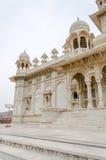Jaswant Thada. Ornately carved white marble tomb of Jodhpur Royalty Free Stock Images
