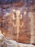 Jaszczurka petroglif w dinosaura Krajowym zabytku, Utah, usa Zdjęcia Royalty Free