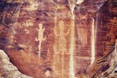 Jaszczurka petroglif w dinosaura Krajowym zabytku, Utah, usa Fotografia Royalty Free