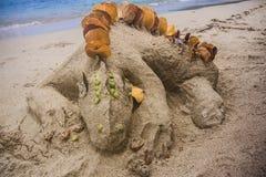 Jaszczurka piaska kasztel Obrazy Royalty Free