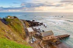 Jaszczurka punktu Cornwall zmierzch Zdjęcie Stock
