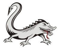 jaszczurka tatuaż ilustracja wektor
