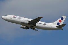 Jat-Fluglinien B737 Stockfoto