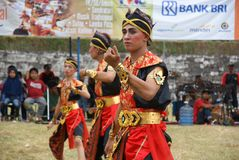 Jathilan-Tanz, Indonesien stockfotografie