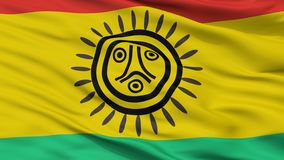 Jatibonicu Taino Tribal Nation Indian Flag Closeup View royalty free illustration