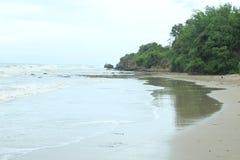 Jatisari Beach. White sand beach in Jatisari Stock Images