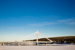 The Jatkankynttila bridge. Stock Images