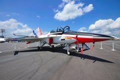 Jato da águia dourada de indústrias aeroespaciais T/A-50 de Coreia Foto de Stock